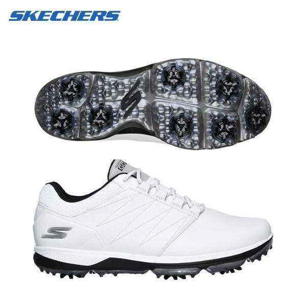 【幅2E】 スケッチャーズ ゴルフ プロ4 54535 ソフトスパイク ゴルフシューズ ホワイト×ブラック SKECHERS PRO【スケッチャーズ】【ゴルフシューズ】