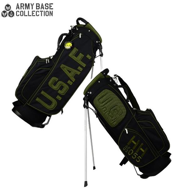 【数量限定】 アーミーベースコレクション ゴルフ USエアフォース ABC027SB スタンド キャディバッグ ARMY BASE COLLECTION AIR FORCE ブラック ゴルフバッグ【アーミーベースコレクション】【キャディバッグ】