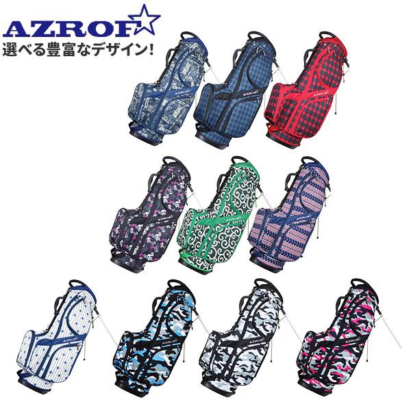 ☆選べる豊富なデザイン☆ チープ アズロフ トラスト キャディバッグ ゴルフ AZ-STCB01 AZROF ゴルフバッグ スタンド