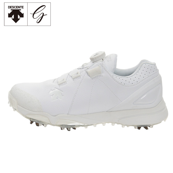 [土日祝も出荷可能]デサント ゴルフ DG2NJA00 ソフトスパイク ゴルフシューズ ホワイト(WH00) DESCENTE【デサント】【ゴルフシューズ】【あす楽対応】