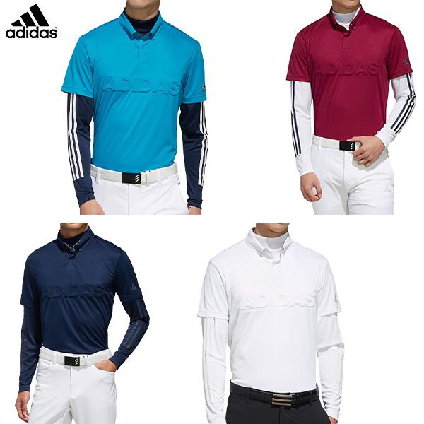 [土日祝も出荷可能]アディダス ゴルフ FYO93 レイヤード ボタンダウン ポロシャツ Adidas【アディダス】【あす楽対応】
