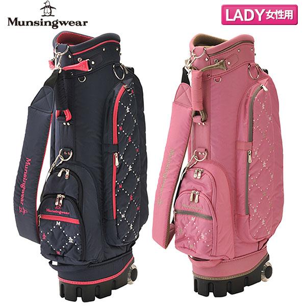 【レディース】 マンシングウェア ゴルフ MQCPJJ00 カート キャディバッグ Munsingwear ゴルフバッグ【マンシングウェア】【キャディバッグ】