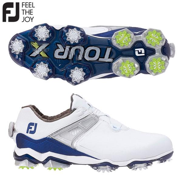 フットジョイ ゴルフ ツアーX ボア 55412 ゴルフシューズ ホワイト×ネイビー FOOTJOY TOUR X Boa【フットジョイ】【ゴルフシューズ】