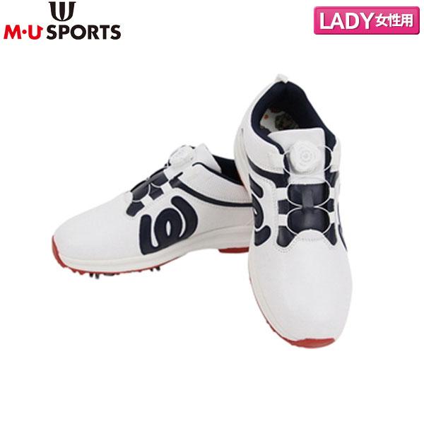【レディース】 M・Uスポーツ ゴルフ 703P6600 ゴルフシューズ アイボリー M・U SPORTS【M・Uスポーツ】【ゴルフシューズ】