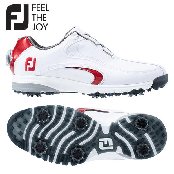 【幅広設計/送料無料】 フットジョイ ゴルフ ウルトラフィット XW ボア 54183 ゴルフシューズ ホワイト×レッド FOOTJOY FIT Boa【フットジョイ】【ゴルフシューズ】