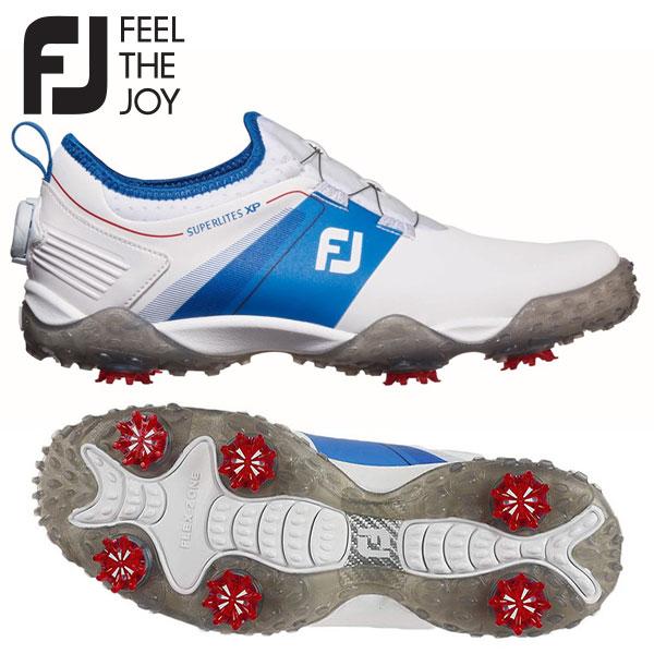【軽量設計】 フットジョイ ゴルフ スーパーライト XP 58068 ゴルフシューズ ホワイト×ブルー FOOTJOY【フットジョイ】【ゴルフシューズ】