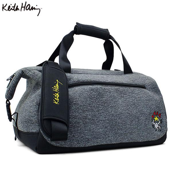 [土日祝も出荷可能]【送料無料】 キースへリング ゴルフ KHBB-03 ボストンバッグ ダークグレー Keith Haring Star【キースへリング】【ボストンバッグ】【あす楽対応】