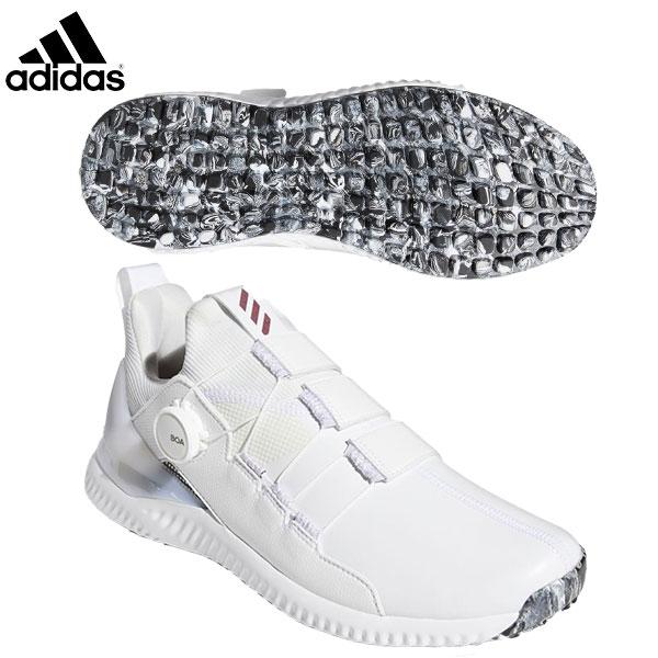 アディダス ゴルフ アディクロス バウンス ボア 2.0 EE9153 スパイクレス ゴルフシューズ ホワイト adidas BOA