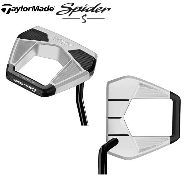 テーラーメイド ゴルフ スパイダーS シングルベント パター チョークホワイト TaylorMade SPIDER S【テーラーメイド】【パター】