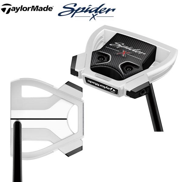 テーラーメイド ゴルフ スパイダーX センターシャフト パター チョークホワイト/ホワイト TaylorMade SpiderX Chalk White