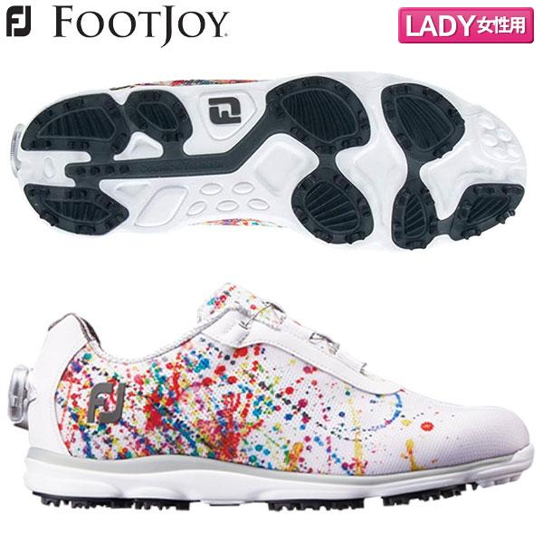 【レディース】 フットジョイ ゴルフ FJ エンパワー SLボア 98054 スパイクレス ゴルフシューズ ホワイト×プリント FOOTJOY