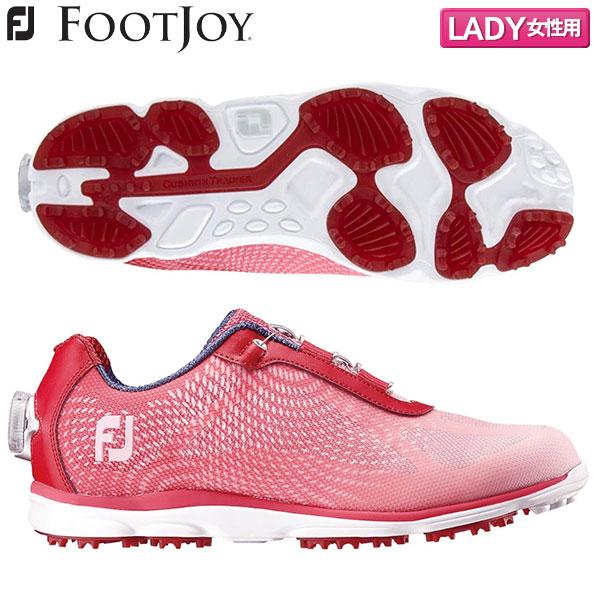 【レディース】 フットジョイ ゴルフ FJ エンパワー SLボア 98051 スパイクレス ゴルフシューズ レッド×ピンクフェード FOOTJOY