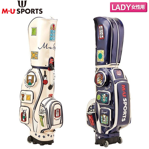 【レディース】 M・Uスポーツ ゴルフ 703C1100 キャディバッグ MU SPORTS【M・Uスポーツ】【キャディバッグ】