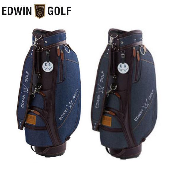 エドウィン ゴルフ EDWIN-043 カート キャディバッグ ネイビー,ブラック EDWIN ゴルフバッグ【エドウィン】【キャディバッグ】