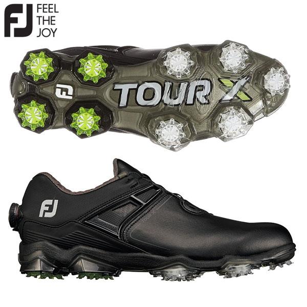 フットジョイ ゴルフ ツアーX ボア 55414 ゴルフシューズ ブラック×ライム(55414) FOOTJOY TOUR X Boa【フットジョイ】【ゴルフシューズ】
