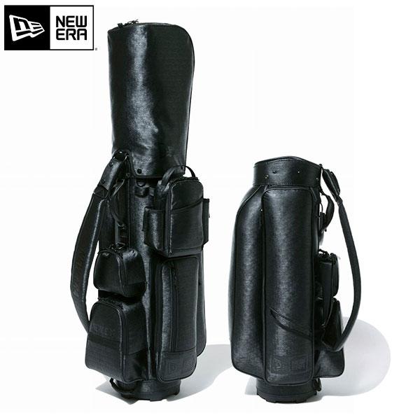 ニューエラ ゴルフ エンボス 12325925 カート キャディバッグ ベーシックポーチ付き ブラック(BLK) NEW ERA CART CADDIE BAG EMBOSS BL ゴルフバッグ