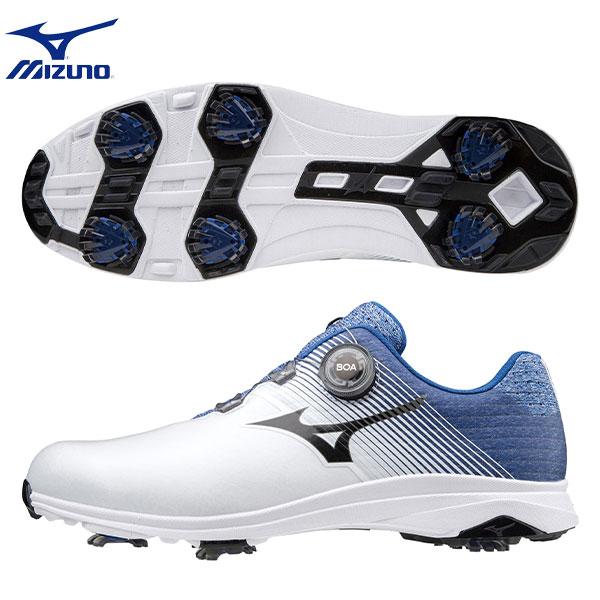 【送料無料】 ミズノ ゴルフ ネクスライト 007 ボア 51GM2010 ゴルフシューズ ホワイト×ブルー(22) mizuno【ミズノ】【ゴルフシューズ】