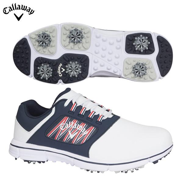 【送料無料】 キャロウェイ ゴルフ シェブライト 247-0996500 ゴルフシューズ ホワイト×ネイビー Callaway CHEVLITE【キャロウェイ】【ゴルフシューズ】