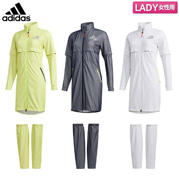 【レディース】 アディダス ゴルフ ハイストレッチ GKI53 レインワンピース レインウェア レッグカバー付き adidas【アディダス】【レインウェア】