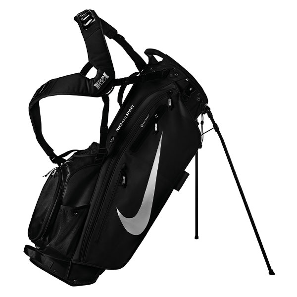 ナイキ ゴルフ エアスポーツ GF3002 スタンド キャディバッグ ブラック×メタリックシルバー(072) NIKE AIR SPORT ゴルフバック【ナイキ】【キャディバッグ】