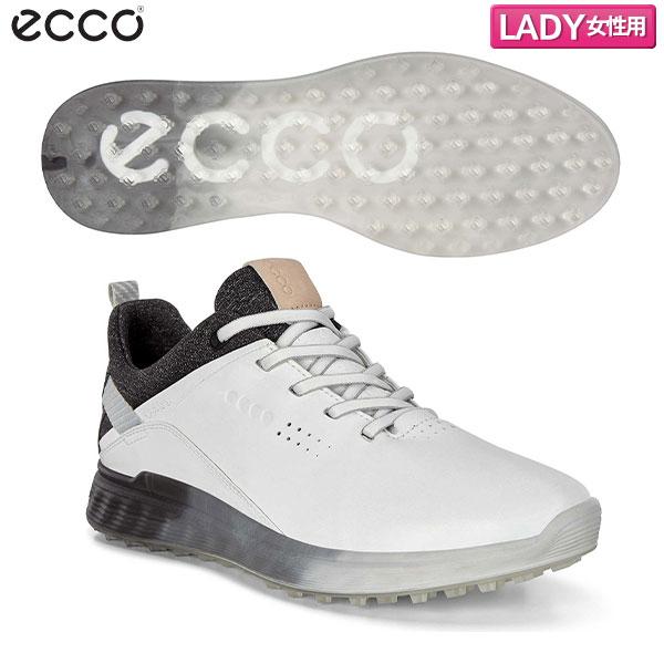 [土日祝も出荷可能]【レディース】 エコー ゴルフ Sスリー GTX 102903 スパイクレス ゴルフシューズ ホワイト(01007) ECCO S-THREE ゴアテックス【エコー】【ゴルフシューズ】
