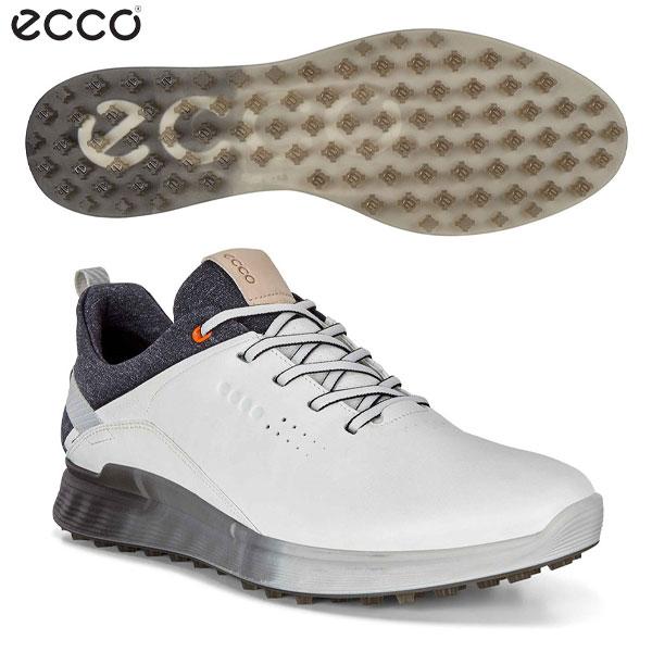 [土日祝も出荷可能]エコー ゴルフ Sスリー GTX 102904 スパイクレス ゴルフシューズ ホワイト(01007) ECCO S-THREE ゴアテックス【エコー】【ゴルフシューズ】【あす楽対応】