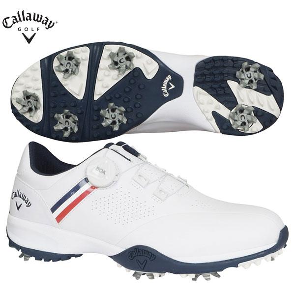 キャロウェイ ゴルフ エアロスポーツ ボア 2470996501 ゴルフシューズ ホワイト×ネイビー Callaway AEROSPORT BOA【キャロウェイ】【ゴルフシューズ】