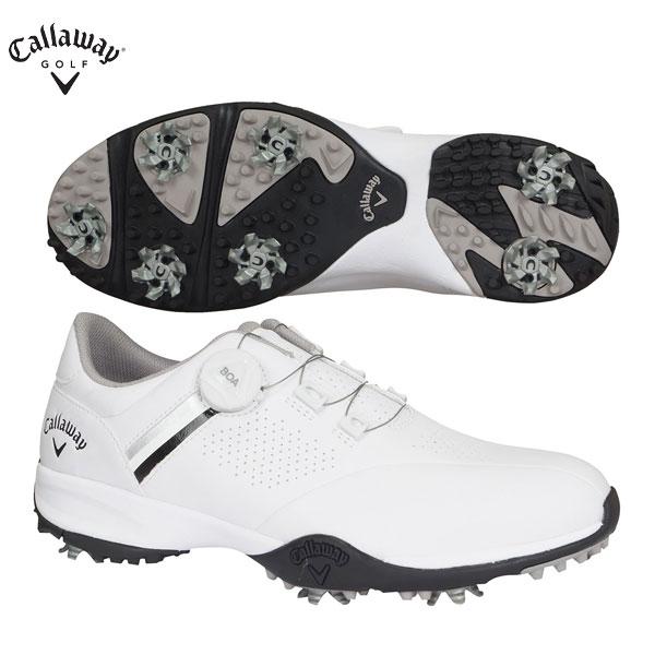 キャロウェイ ゴルフ エアロスポーツ ボア 2470996501 ゴルフシューズ ホワイト×ブラック Callaway AEROSPORT【キャロウェイ】【ゴルフシューズ】