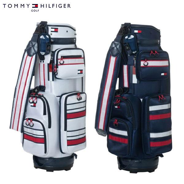 トミーヒルフィガー ゴルフ THMG0SC5 カート キャディバッグ ホワイト(00),ネイビー(30) Tommy Hilfiger STRIPED CADDIE BAG