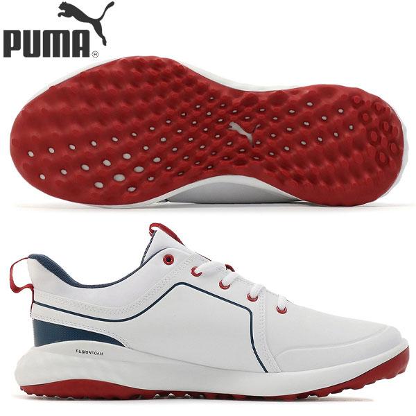 【送料無料】 プーマ ゴルフ グリップフュージョン 2.0 192990 スパイクレス ゴルフシューズ プーマ ホワイト×ピーコート(05) PUMA【プーマ】【ゴルフシューズ】