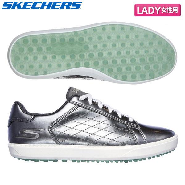 【レディース】 スケッチャーズ ゴルフ ドライブ シャイン 14881 スパイクレス ゴルフシューズ ピンク×ホワイト SKECHERS DRIVE SHINE