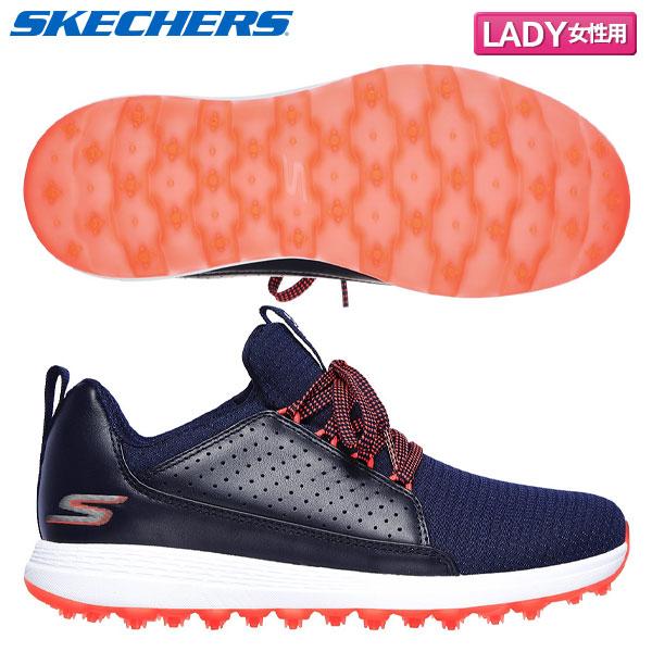 【レディース】 スケッチャーズ ゴルフ マックスモジョ 14887 スパイクレス ゴルフシューズ ネイビー×ピンク SKECHERS MAX MOJO
