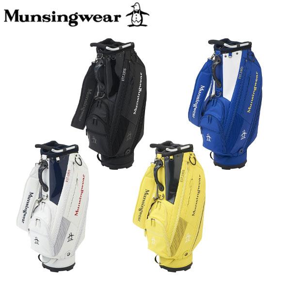 マンシングウェア ゴルフ MQBQJJ00 カート キャディバッグ ブラック(BK00),ブルー(BL00),ホワイト(WH00),イエロー(YL00) Munsingwear ゴルフバッグ