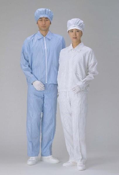 クリーンスーツ・上下服セット シャツカラータイプ女性用