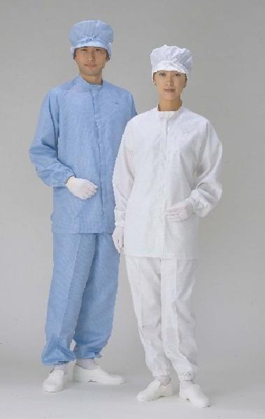 流行 クリーンスーツ上下服タイプのお値打ちセット販売 ついに入荷 クリーンスーツ 上下服セット スタンドカラータイプ男性用
