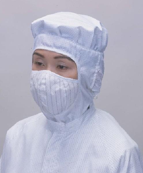 評価 店内全品対象 クラス10~100のクリーンルーム用フードです マスク付きクリーンフード 立体マスクタイプ