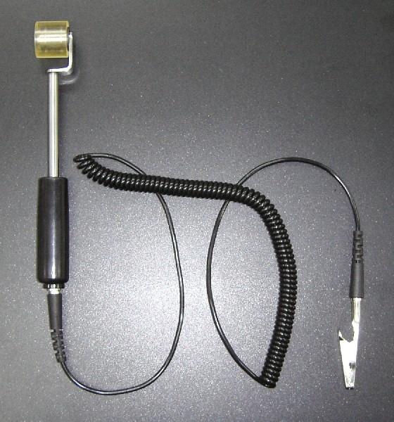 まとめ買い特価 平面上の異物除去に適したアース線付き導電性粘着ゴムローラー アース線付き導電性ペタローラーPR215-ASE NEW売り切れる前に☆