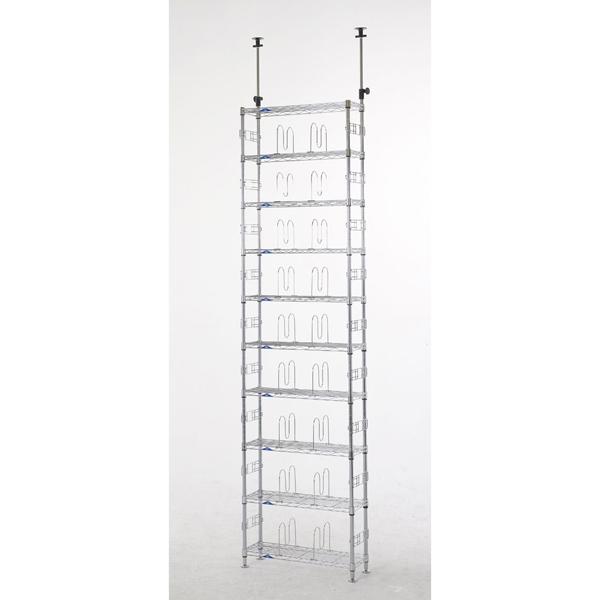 [MD60-10T] 【ルミナスラック】 【φ19】 ルミナスフィール 壁面収納テンションラック10段60W 【代引可能】