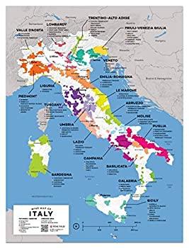 中古 輸入品 激安通販ショッピング 未使用未開封 ワインFollyイタリアワインマップポスター印刷 12?