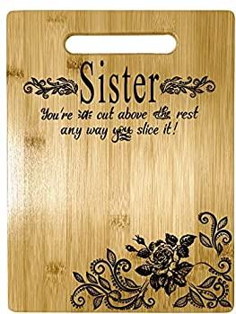 お気に入り 中古 通販 激安◆ 輸入品 未使用未開封 - 大きな刻印長方形竹製まな板 姉妹への贈り物