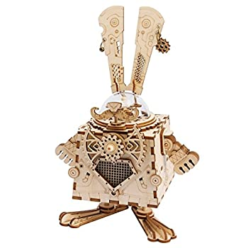 中古 輸入品 未使用未開封 Robotime DIYオルゴール 3D立体パズル ロボット ギア クラフト キット 子供 女の子 新年 男の子 ギフト 売却 5☆大好評 大人 おもちゃ オモチャ 知育玩具
