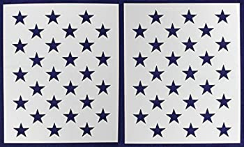 中古 輸入品 未使用未開封 50 スターフィールドステンシル - 再入荷 予約販売 爆買い新作 US ステンシル2枚 Gスペック x アメリカ国旗 高さ21インチ 長さ29.64インチ