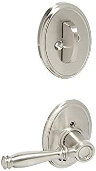 Pack Single F59BIR619WKF Lock Company Nickel Set Deadbolt Satin Cylinder Wakefiel Interior Decorative with Lever Birmingham and 【中古】【輸入品・未使用未開封】Schlage
