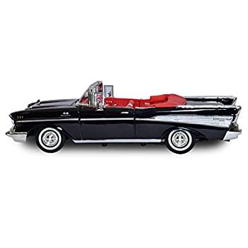 激安格安割引情報満載 格安店 中� 輸入� 未使用未開� Motormax 73175AC 1957 Chevrolet Bel Air with Model Black Diecast 1-18 Flames Car Convertible