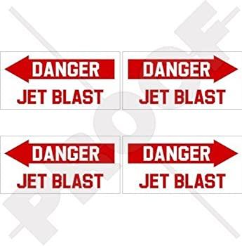 営業 中古 輸入品 未使用未開封 DANGER JET BLAST Aircraft Helicopter Decals 50mm Stickers 2