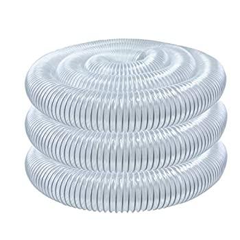 中古 輸入品 入手困難 未使用未開封 POWERTEC 70143 4-Inch 宅配便送料無料 x 20-Feet Dust by Color Collection PVC Flexible Hose Clear