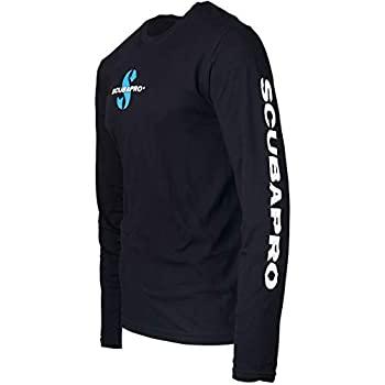 中古 輸入品 未使用未開封 Scubapro 期間限定特別価格 ブラック 本物 長袖Tシャツ XX-Large