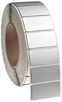 中古 輸入品 未使用未開封 Brady THTEP-173-593-.5SL 2 Width x 信用 1 全国一律送料無料 Height B-593 Panel Thermal Printer Adhesive-Taped Transfer Gloss Polyester Silver Finish Raised La