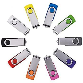 中古 輸入品 未使用未開封 人気ブランド Enfain USB Key Flash Drive Memory Assorted 限定特価 4GB Pack Stick - 並行輸入品 Mix 10 Color
