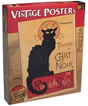 再入荷/予約販売! 中古 輸入品 未使用未開封 Vintage Posters Chat Noir お得なキャンペーンを実施中 並行輸入品 Piece by Buffalo Games Puzzle 1000